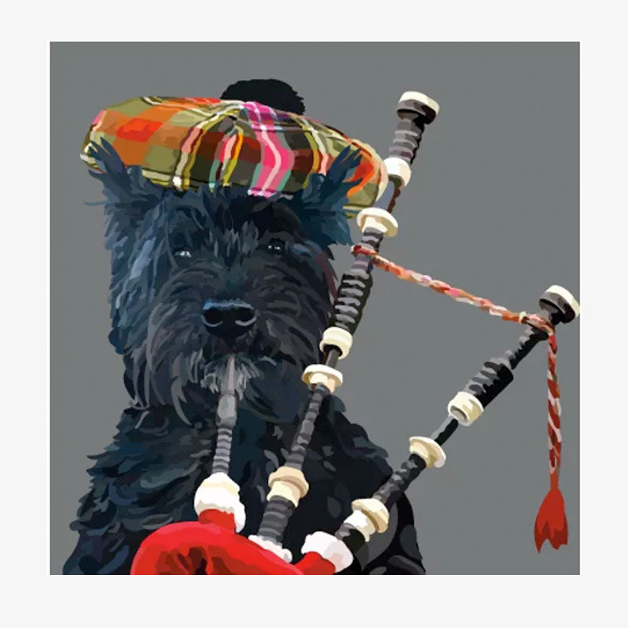 Scottie Dog Piper Card