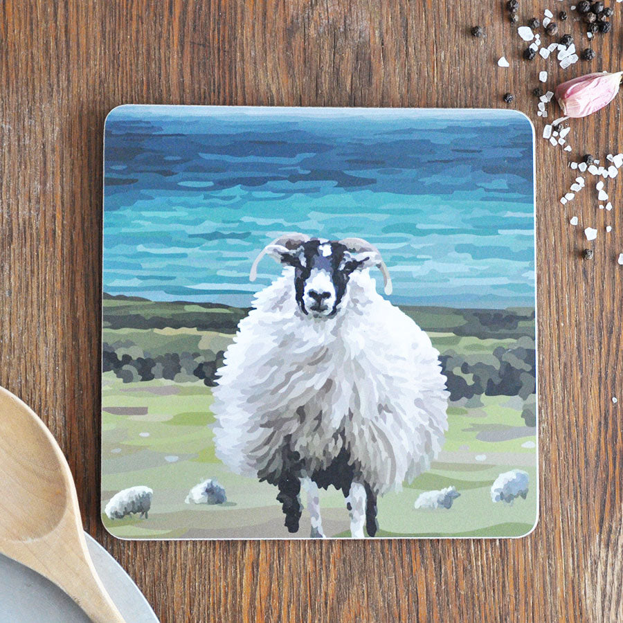 Sheep on Coastline Pot Stand Placemat