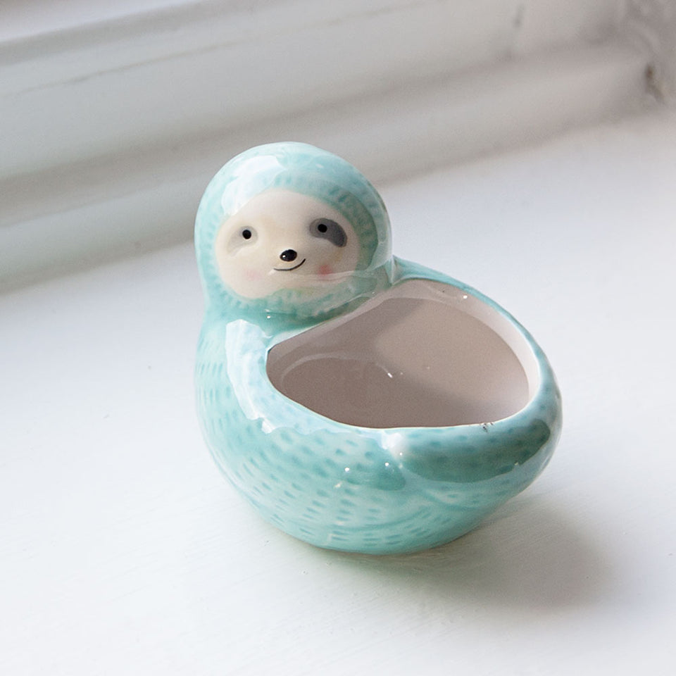 Seymour Sloth Mini Plant Pot