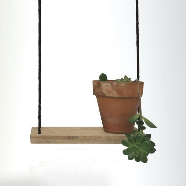 Small Wooden Hanging Shelf
