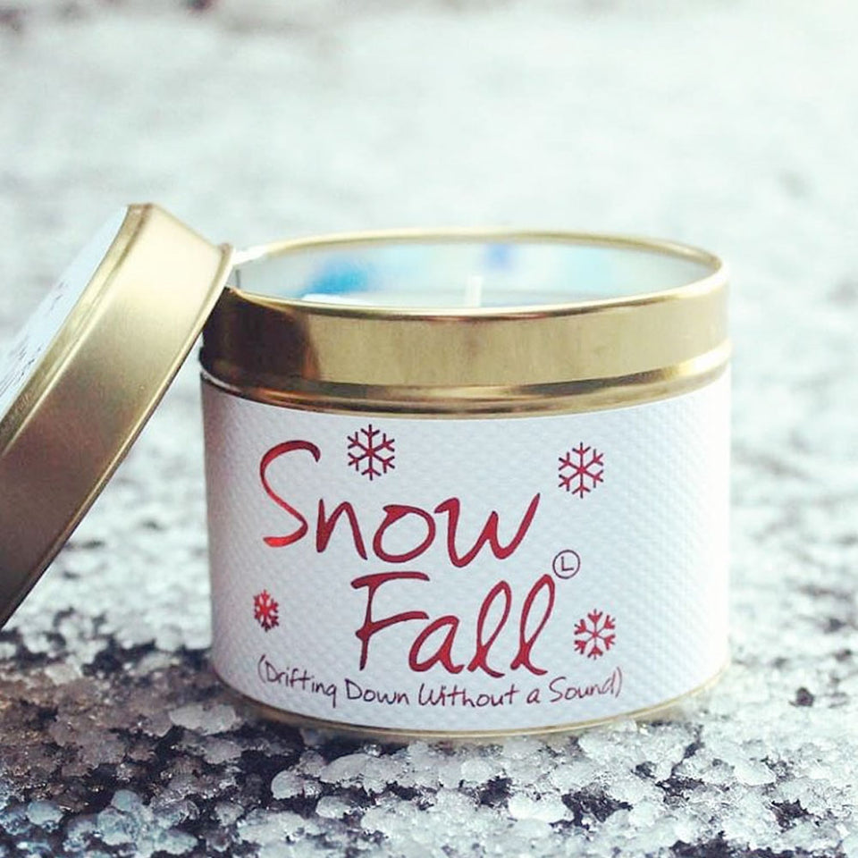 Snow Fall Candle Tin