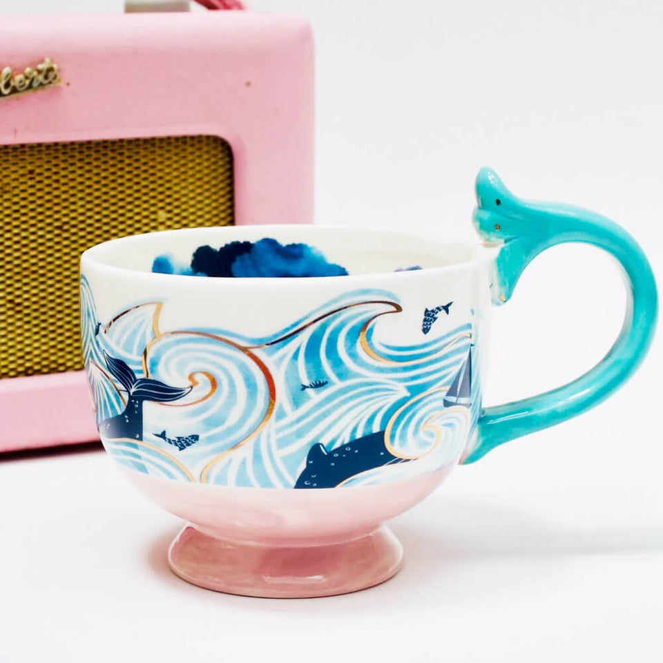 By The Sea  Storm Tea Cup With Gift Box