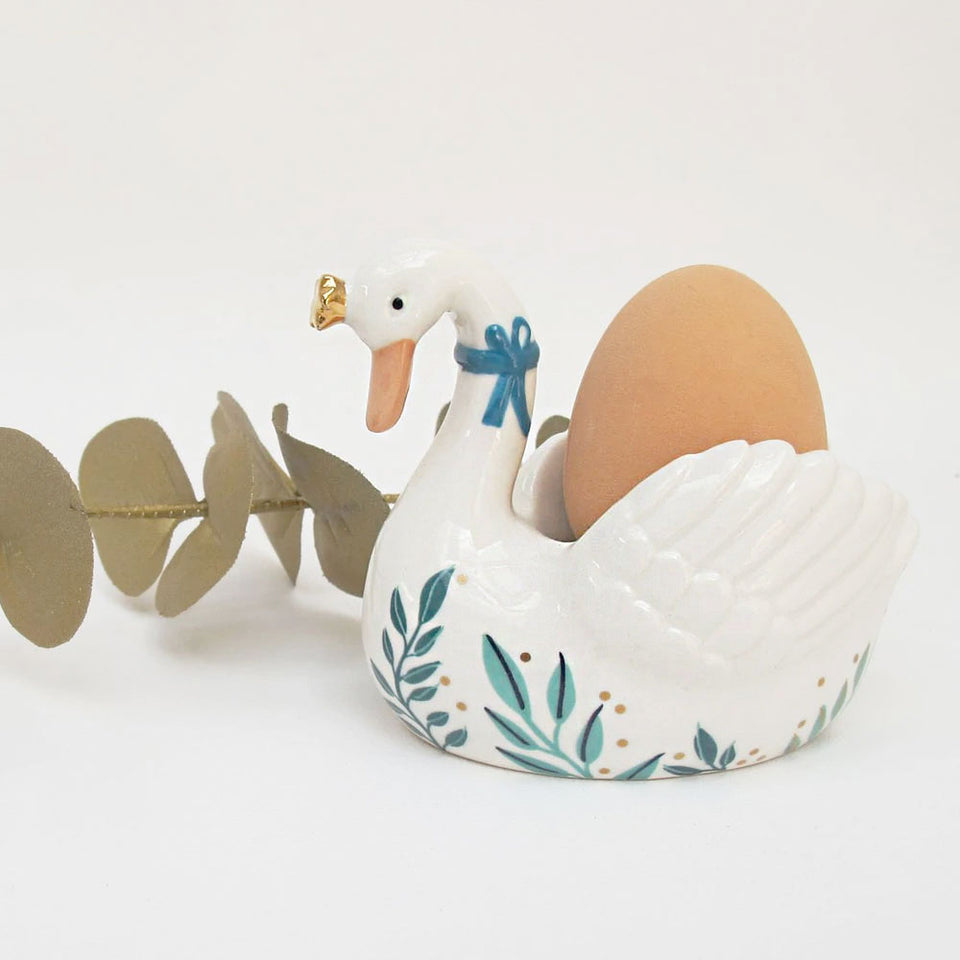 Secret Garden Swan Eggcup | With Gift Box