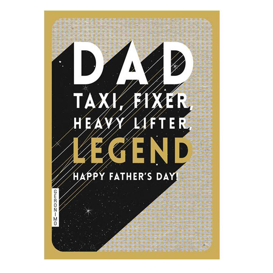 Taxi, Fixer, Lifter Dad Card