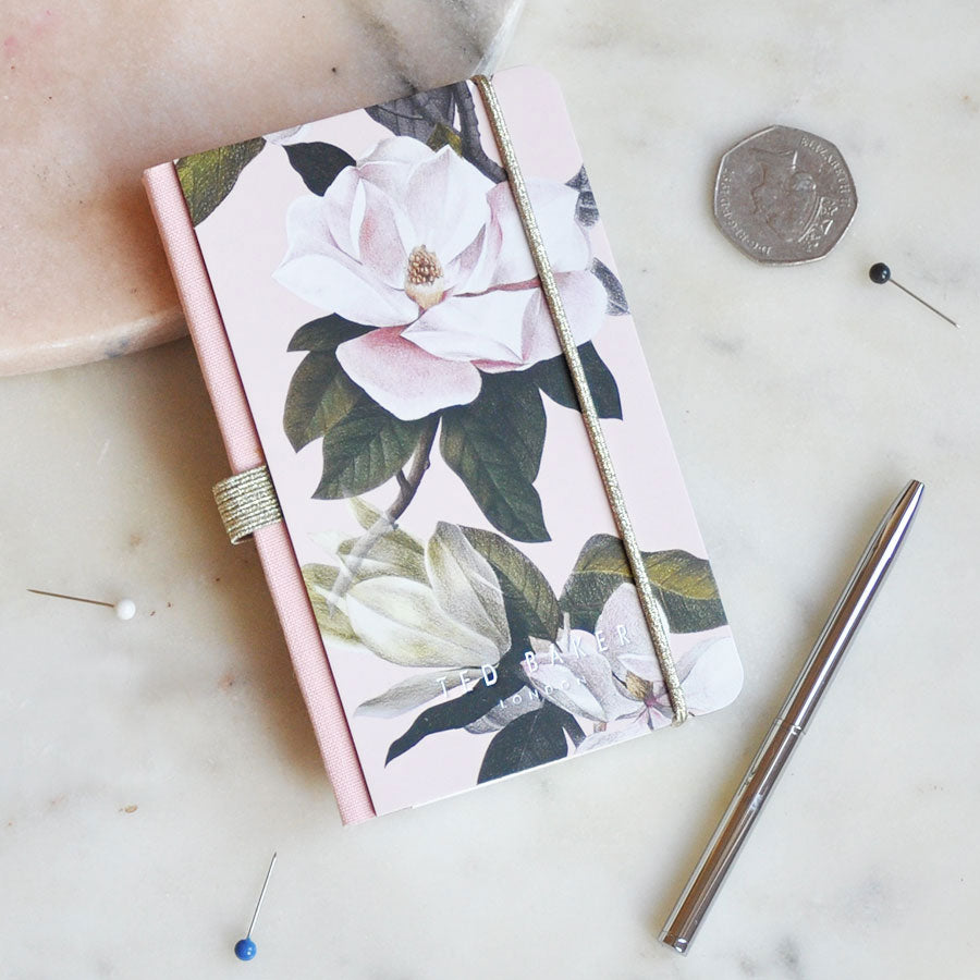 Pink Opal Mini Notebook and Pen