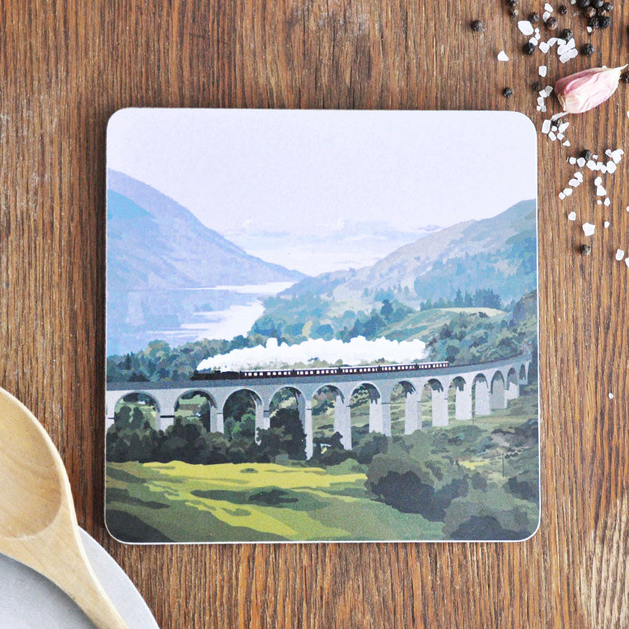 Glenfinnan Viaduct Pot Stand Placemat