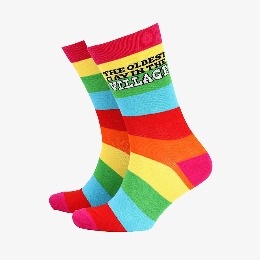 Oldest Gay in the Village Men's Socks