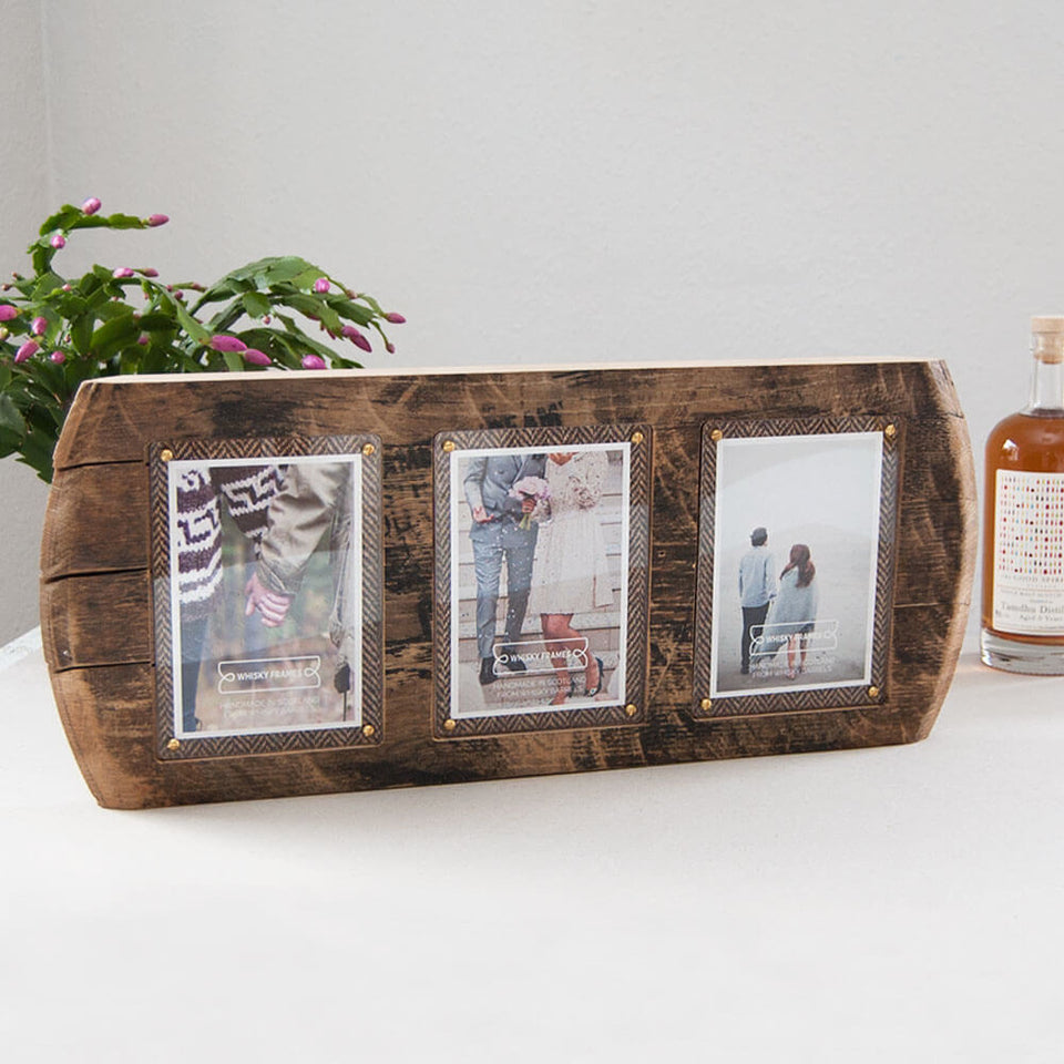 Bronze 3 Photo Whisky Barrel Frame