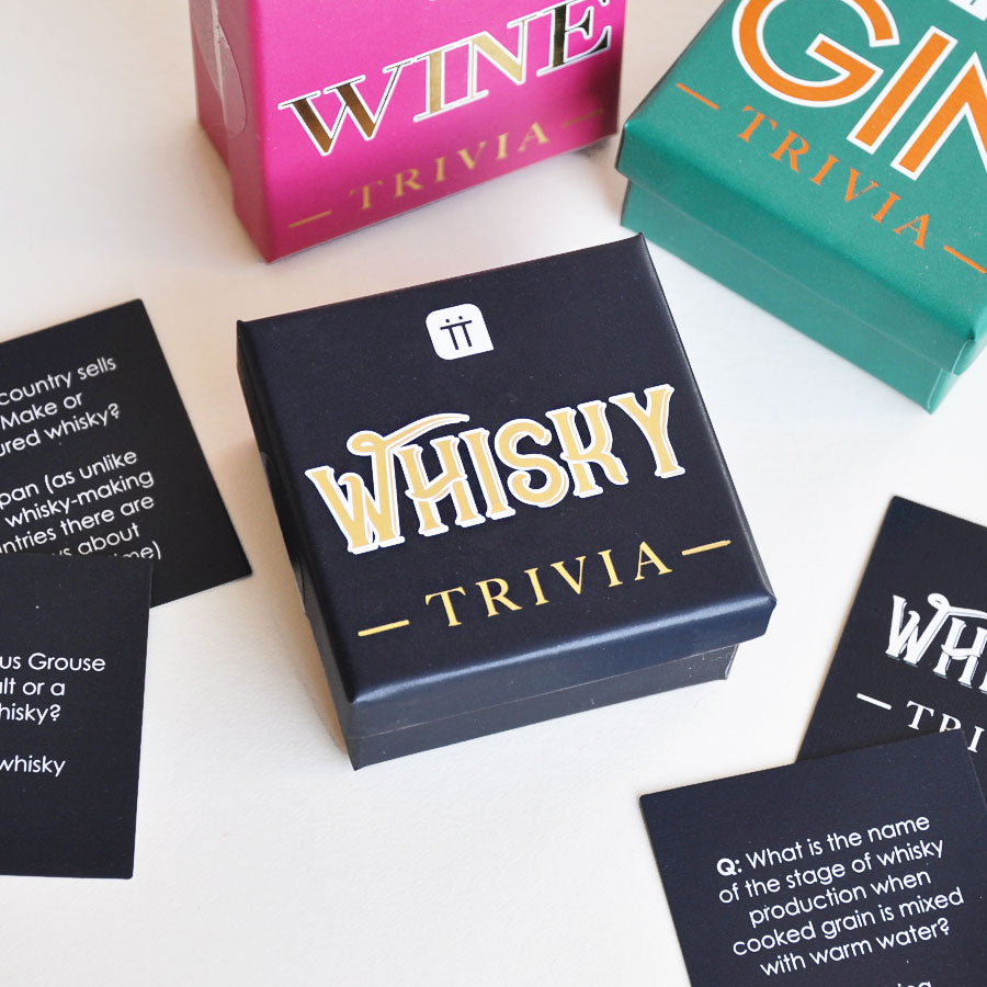 Mini Whisky Trivia Cards