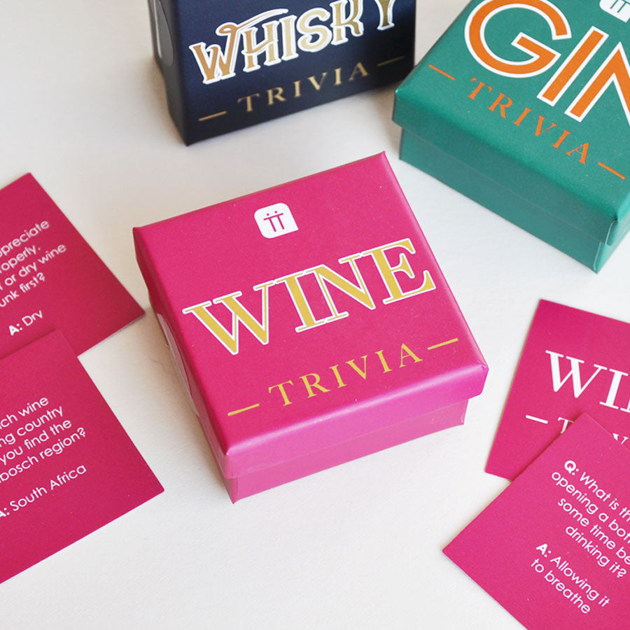 Mini Wine Trivia Cards