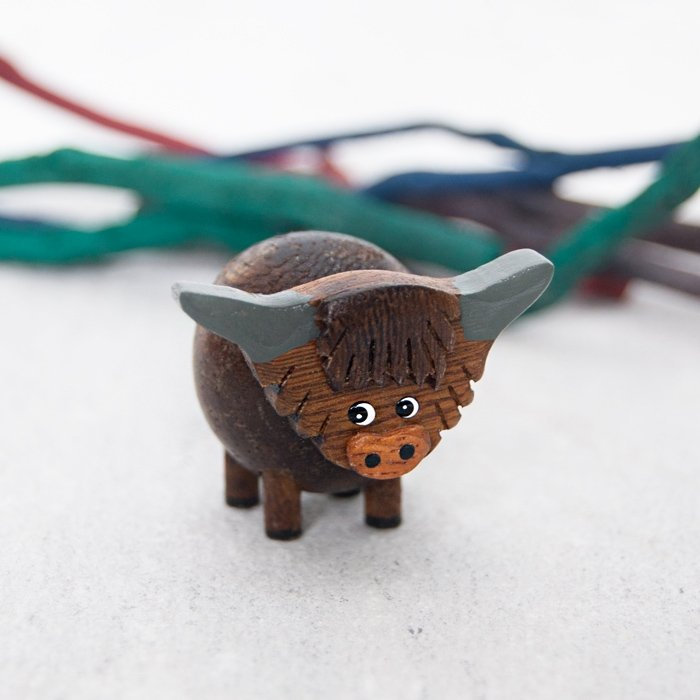 Mini Highland Cow Decoration