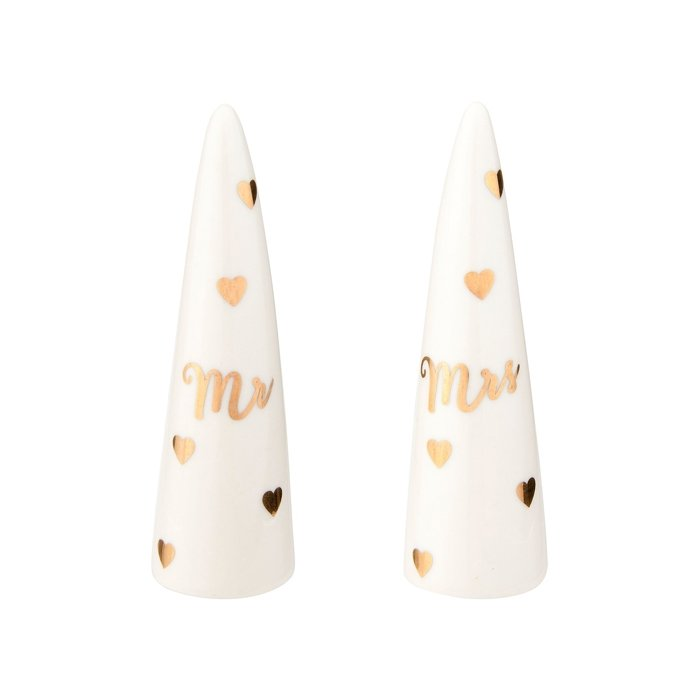Mr & Mrs Ring Cones | Set of 2