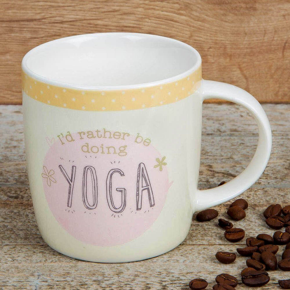Rather Be Doing Yoga Stoneware Mug