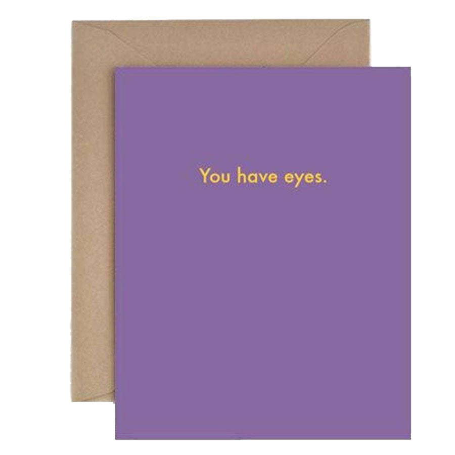 You Have Eyes Card