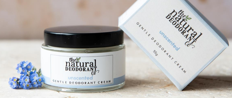 Plastic-free deodorant that comes in a jar and is made of cream