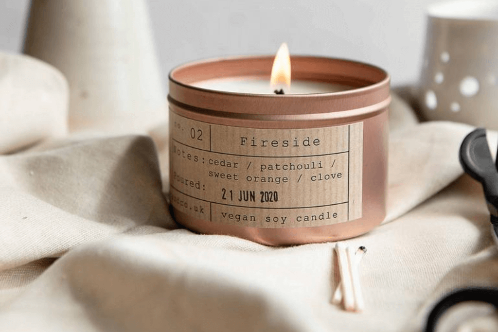 Fireside Soy Wax Candle - Tiger & Co