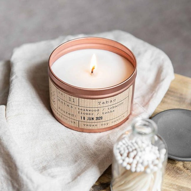 Tabac Soy Wax Candle - 35h - Tiger & Co - Life Before Plastik