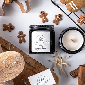 Subluceo Gingerbread Soy Wax Candle - 20h - Life Before Plastik