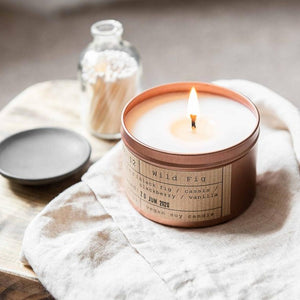 Tiger & Co Wild Fig Soy Wax Candle - 35h - Life Before Plastik