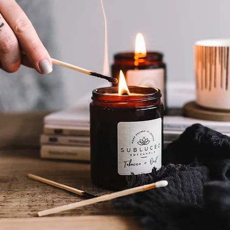 Subluceo Tobacco + Oak Soy Wax Candle - 35h - Life Before Plastik