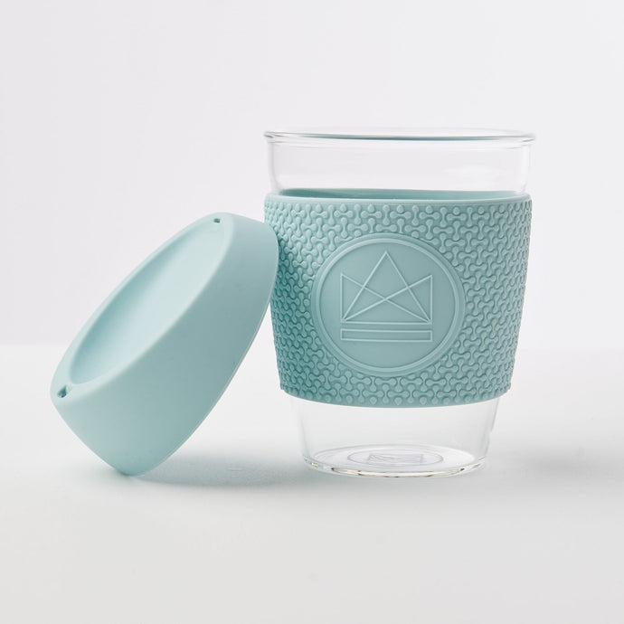 Neon Kactus Reusable Glass Coffee Cup - Sea Breeze - Life Before Plastik