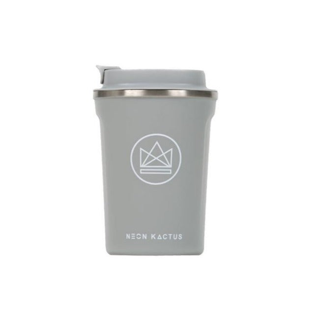 Neon Kactus Stainless Steel Coffee Cup - Grey - Life Before Plastik