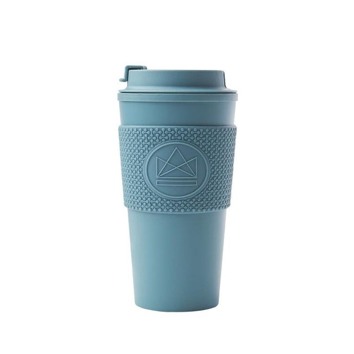 Neon Kactus Double Walled Coffee Cup - Storm Grey - Life Before Plastik