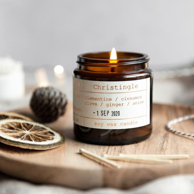 Tiger & Co Limited Edition: Christingle Soy Wax Candle - 20h - Life Before Plastik