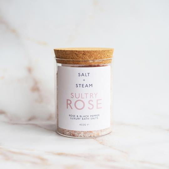 Salt + Steam Bath Salts - Sultry Rose - Life Before Plastik