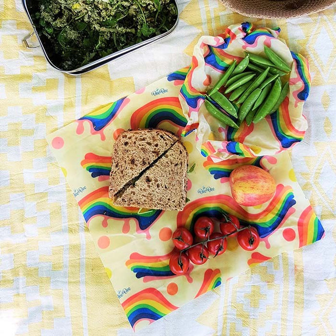 Rainbow Beeswax Food Wrap - Mixed Sizes