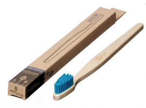 Beech Wood Toothbrush Blue - EcoLiving - Life Before Plastik