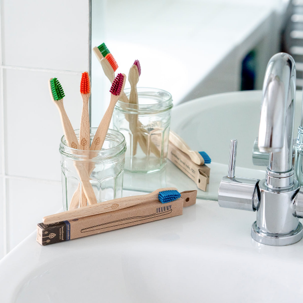 Beech Wood Toothbrush Orange - EcoLiving - Life Before Plastik