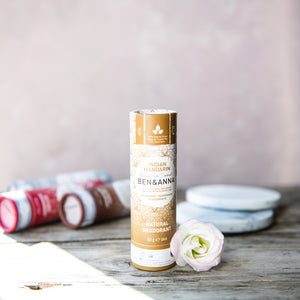 Natural Deodorant Stick: Indian Mandarin - Life Before Plastik