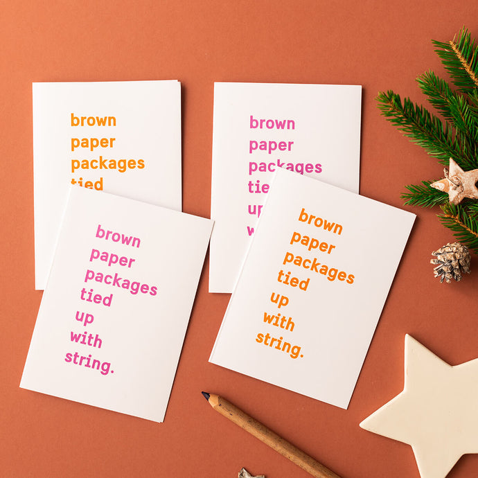 Beth Clare Mc Brown Paper Packages Christmas Cards - Life Before Plastik