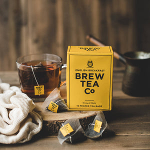 Brew Tea Co English Breakfast Proper Tea Bags - Life Before Plastik