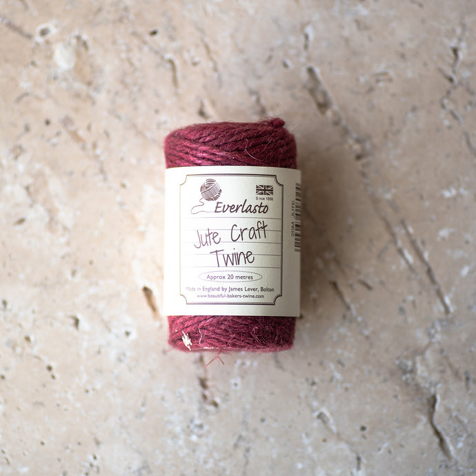 20m Cotton Twine - Raspberry - Life Before Plastik