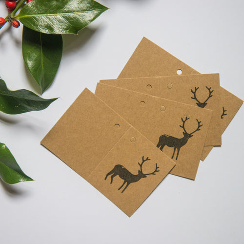 Reindeer Gift Tags - Pack of 5