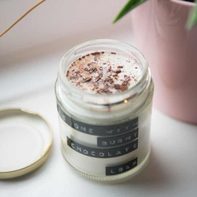 The One With Burnt Chocolate Soy Wax Candle - 35h - Life Before Plastik