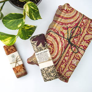 Recycled Sari Gift Wrap - Life Before Plastik