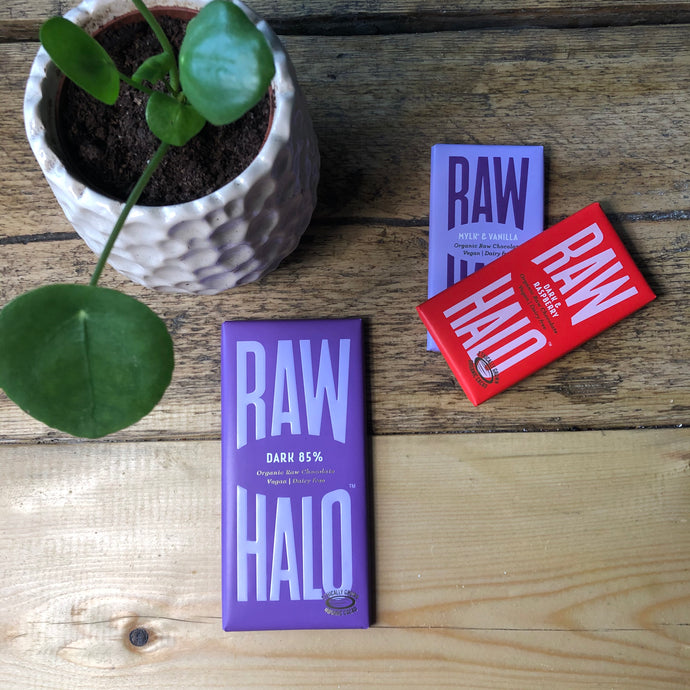 Dark 85% - Vegan Chocolate - Raw Halo - Life Before Plastik