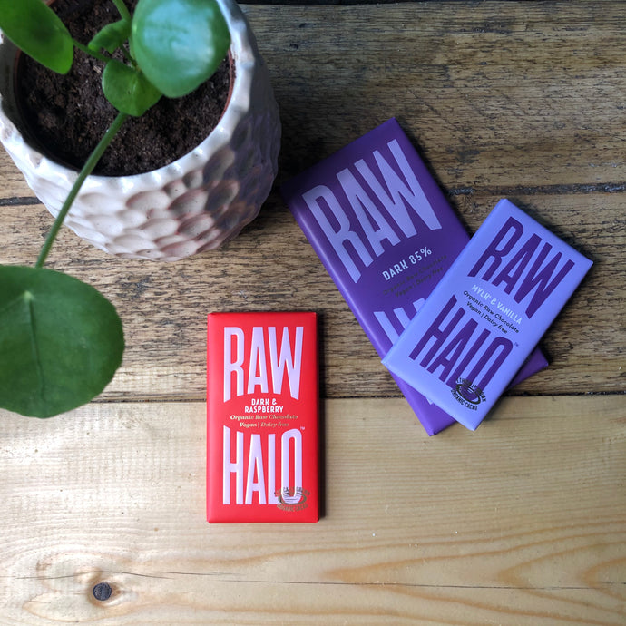 Dark & Raspberry Vegan Chocolate - Raw Halo - Life Before Plastik