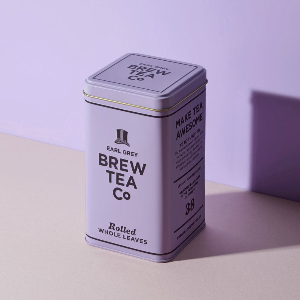 Brew Tea Co Earl Grey Loose Leaf Tin - Life Before Plastik