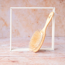 Load image into Gallery viewer, Wooden Hairbrush - Extra Long Pins - Life Before Plastik