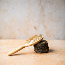 Load image into Gallery viewer, Bamboo Hairbrush on White - Oval - Life Before Plastik
