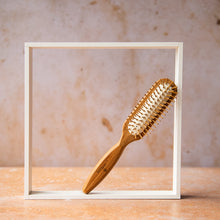 Load image into Gallery viewer, Bamboo Hairbrush - Rectangle - Life Before Plastik