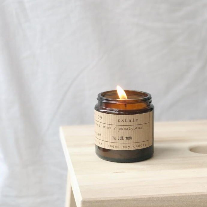 Exhale Soy Wax Candle - 20h - Life Before Plastik