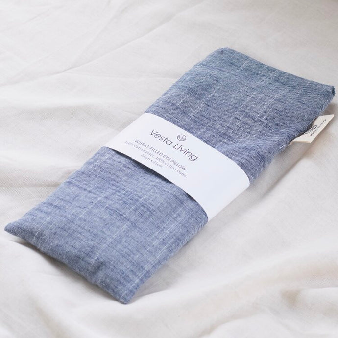 Vesta Living Eye Pillow - Denim Chambray - Life Before Plastik
