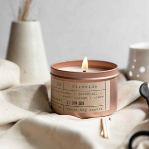 Fireside Soy Wax Candle - 35h - Life Before Plastik