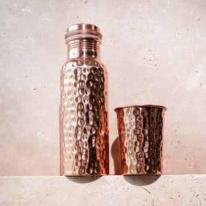 Hammered Copper Water Glass - Life Before Plastik