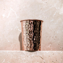 Load image into Gallery viewer, Hammered Copper Water Glass - Life Before Plastik